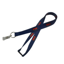 Jewelry Blue Lanyard with Hook and Plastic Detachable Buckle