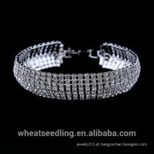 Preço de Fábrica Cristal Prata Elegent Roma Pulseira Para Senhora