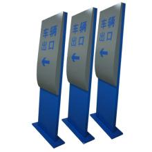 Aparcamiento Aparcamiento Entrada Aluminio Metal Seguridad Cartel direccional Soporte Pilón Letrero Tótem