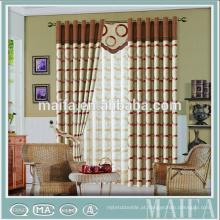 100% poliéster cortinas de hotel de luxo para sala de estar moderna