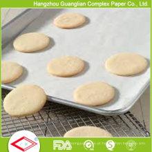 Papel de cozimento de cozimento Siliconized vegetal aprovado de FDA no forno