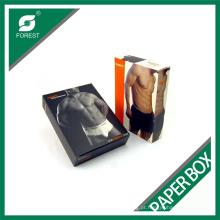 Caixa de empacotamento do retalho do roupa interior dos homens inteiramente imprimíveis feitos sob encomenda que vende a caixa