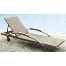 Moderna Chaise Lounge Pe jardín Rattan tumbona