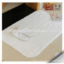 100% Cotton High Quality Customized Embroidery Logo White Terry Bath Mat