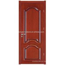 Puerta de madera sólida (JKD-ML8022) de KKD para el diseño de la puerta Interior de madera