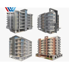 Multi Storey 3 10 three floor heavy duty Prefabricated Steel Structure Apartments Building for sale
