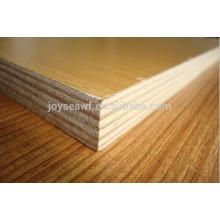 Melamina enfrentó madera contrachapada madera color (nogal wenge roble abedul)