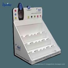 Nouveau compteur d'affichage cosmétique de papier de carton de haute qualité 2017, affichage de compteur de cosmétiques, compteur d'affichage de maquillage