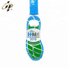 Фабрика изготовленный на заказ марафон консервооткрыватель бутылки металла медаль