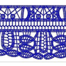 Dark Blue fashion lace for dress