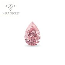 ForeverFlame 3.5ct fancy pink  Pear Cut Angel's tears  diamond CVD CZ Moissanite