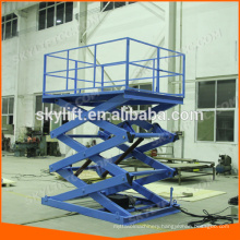 warehouse cargo loading scissor lift