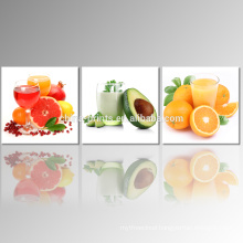 3 Panel Fruit Photo Giclee Print on Canvas Juice Canvas Wall Art for Wholesale