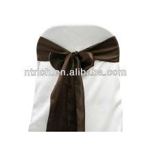 Ceinture de chaise Satin chocolat, liens de chaise, enveloppements pour hotel banquet mariage