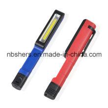 2W COB LED Stylo de travail Light Pocket Light Light Clip magnétique