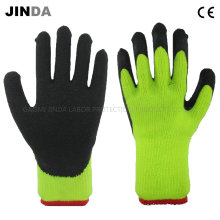 Terry Shell Crinkle Latex Coated Industrial Labor Protective Work Gloves (LS702)