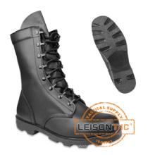 Taktische Stiefel aus Vollkorn-Leder Obermaterial mit langlebiger rutschfester Außensohle