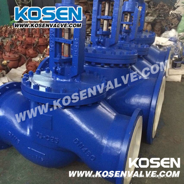 Cast Steel DIN Bellow Sealed Globe Valve Dn450