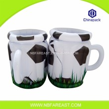 Factory black white Inflatable round ice bucket