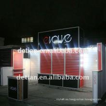 sistema modular Island trade show stand 6mx6m (20'x20 ') con slatwall para exposición internacional