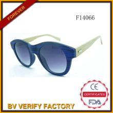 Neue Design-Katzenauge F14066 runder Rahmen mit Bambus Arme Sonne Glas
