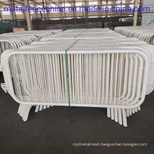Hot Dipped Galvanized Then Painted White Spectators Control Barrier.