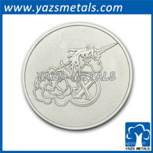 silver plating metal coin stamp