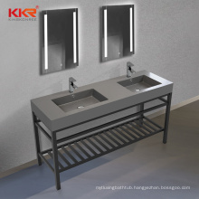 Modern Style Customized Solid Surface Bathroom Vanity Set With Sink