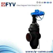 API 6D Electric Wc6 Válvula de laje de laje de alta pressão
