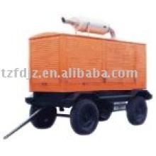 Générateur diesel à quatre roues mobiles de remorques