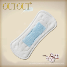 Daily use non-woven breathable anion panty liners with green strip