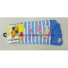 Women Offset Printing Toe Socks (DL-TS-05)
