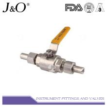 Válvula de esfera manual de parafuso macho de aço inoxidável