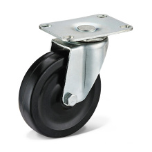 The Black Rubber Caster Wheels