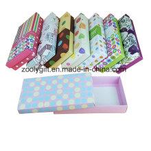 Custom Printing Paper Underwear Caixa De Presente / Underclothes Papelão Caixa De Embalagem De Papel
