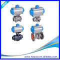 Válvula de bola neumática 3PCS del cuerpo del acero inoxidable DN50 con Q611F-16P