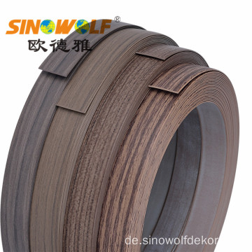 Wood Finish Woodgrain PVC Kantenanleimung für Möbel