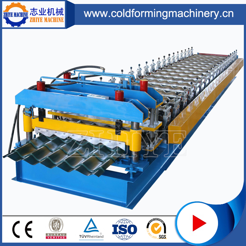 Glazed Steel Tile Cold Rolling Machine