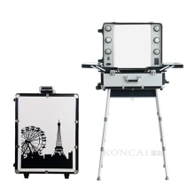 Aluminum makeup Station with Lights Mirror