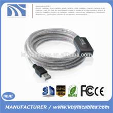 15Ft USB 2.0 Verlängerung AA Booster Kabel für Drucker Webcam Tastatur Maus 5M