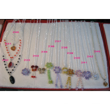 Nice Crystal Bead Necklace Jewellery Accessories (JDNE-218)