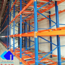 Tiefkühllager-logistische Ausrüstung drücken Palettenregal zurück