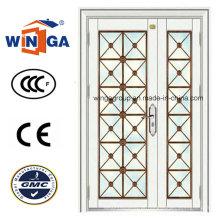 Porta de Entrada Exterior Secuirty de Aço para Construção com Ce (W-GD-19)