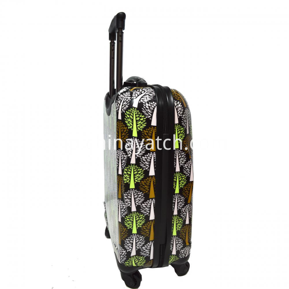 ABS&PC Printing Luggage Set Aluminum Trolley with Gun Color