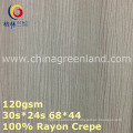 100%Rayon Crepe Woven Dyeing Fabric for Garment Textile (GLLML375)