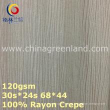 Tela de tingidura tecida Crepe de rayon de 100% para a matéria têxtil do vestuário (GLLML375)