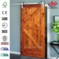 JHK-S06 Seal Rubber Fake Wood Interior Hanging Door