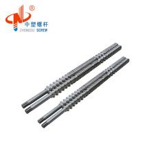 Twin screw extruder double parallel screw barrel
