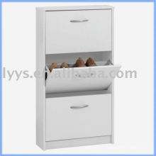 Adjustable shelves metal shoe storage cabinet