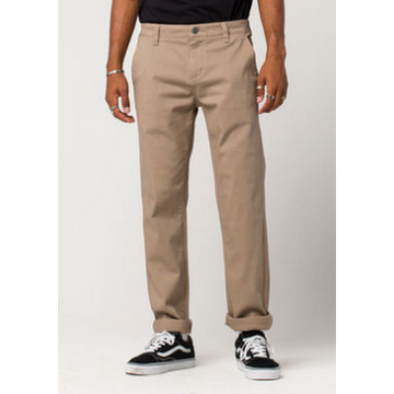 Mens Slim Straight Stretch Chino Pants
